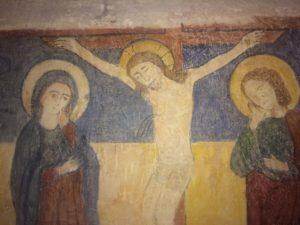 Castello - Crocifisso - affresco