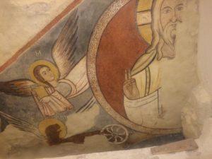 Castello -Padreterno con angelo - affresco