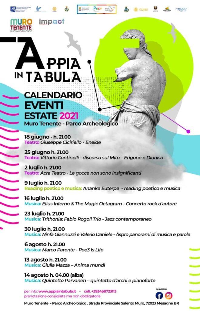 Appia in Tabula – cartellone estivo