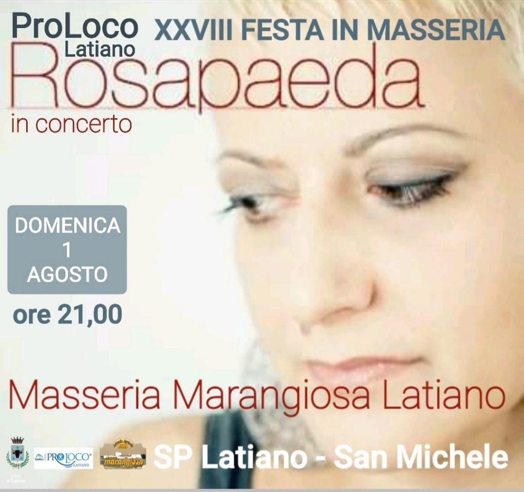 Rosapaeda in concerto